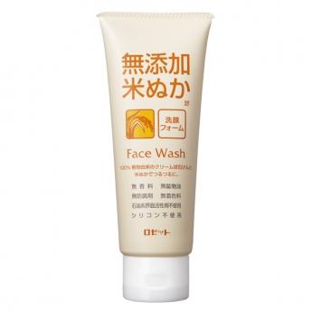 rosetto rice bran facial cleansing foam
