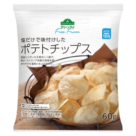 topvalu free from salted potato chips