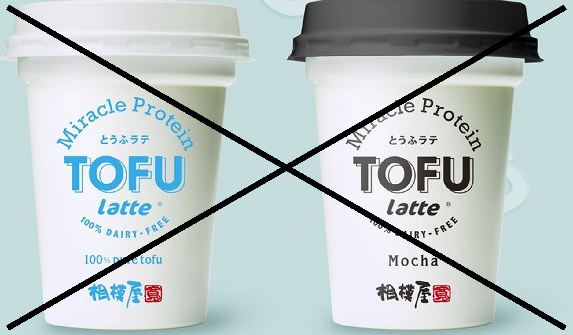 sagamiya tofu latte regular and mocha (2)