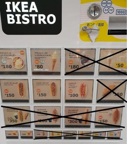 ikea bistro machine with Xs