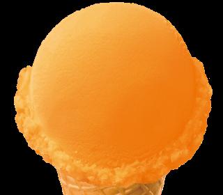Baskin Robbins orange sorbet