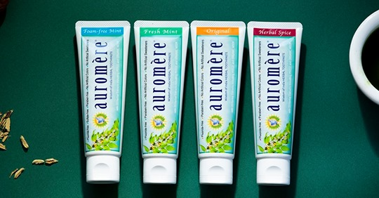 auromere toothpastes
