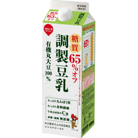 sujahta adjusted soymilk 65% less sugar