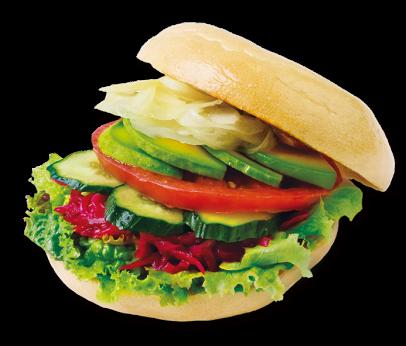 Bagel and Bagel Vegetarian Sandwich