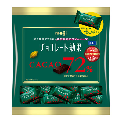 Meiji Chocolate Effects 72% Cacao Large Bag 225g