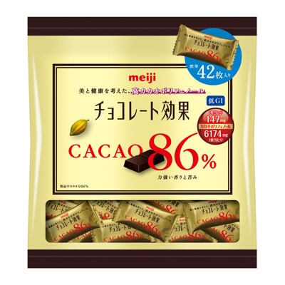 Meiji Chocolate Effects Cacao 86% Large Bag 210g