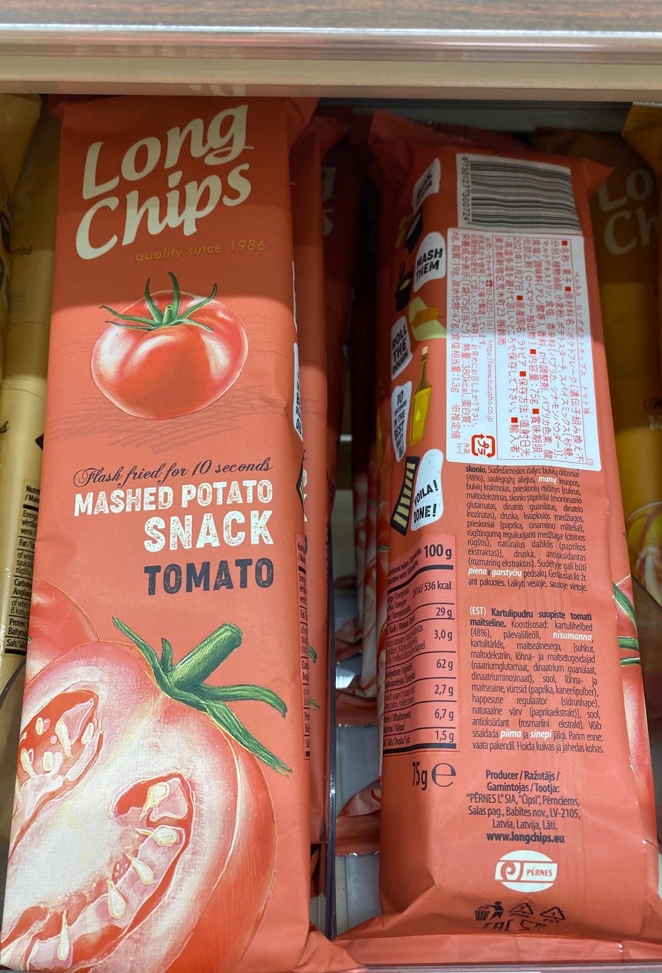 Natural Lawson, Pernes Long Potato Chips, Tomato flavoured