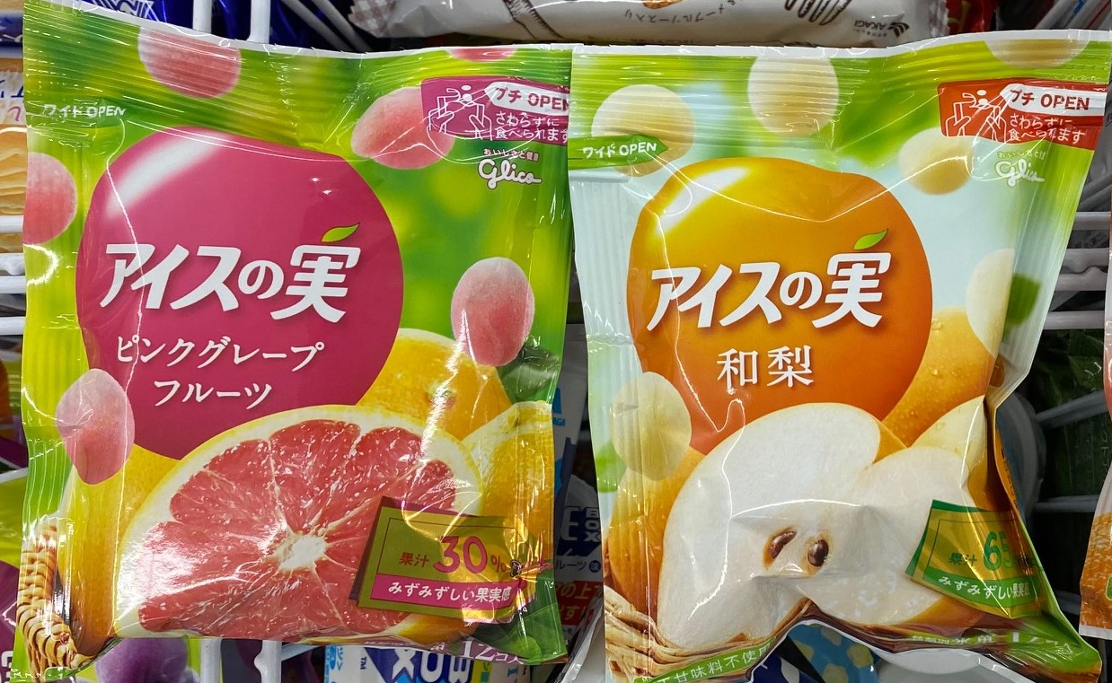Glico Ice Fruit, Pink Grapefruit and Japanese Pear