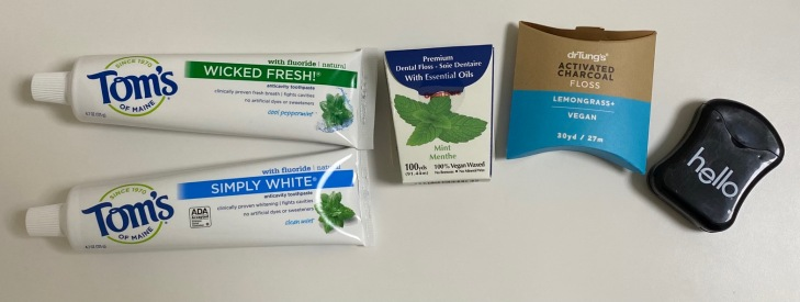 Iherb toothpastes and dental flosses