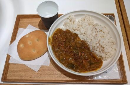 Soup Stock Tokyo Baingan Bharta and Foccacia