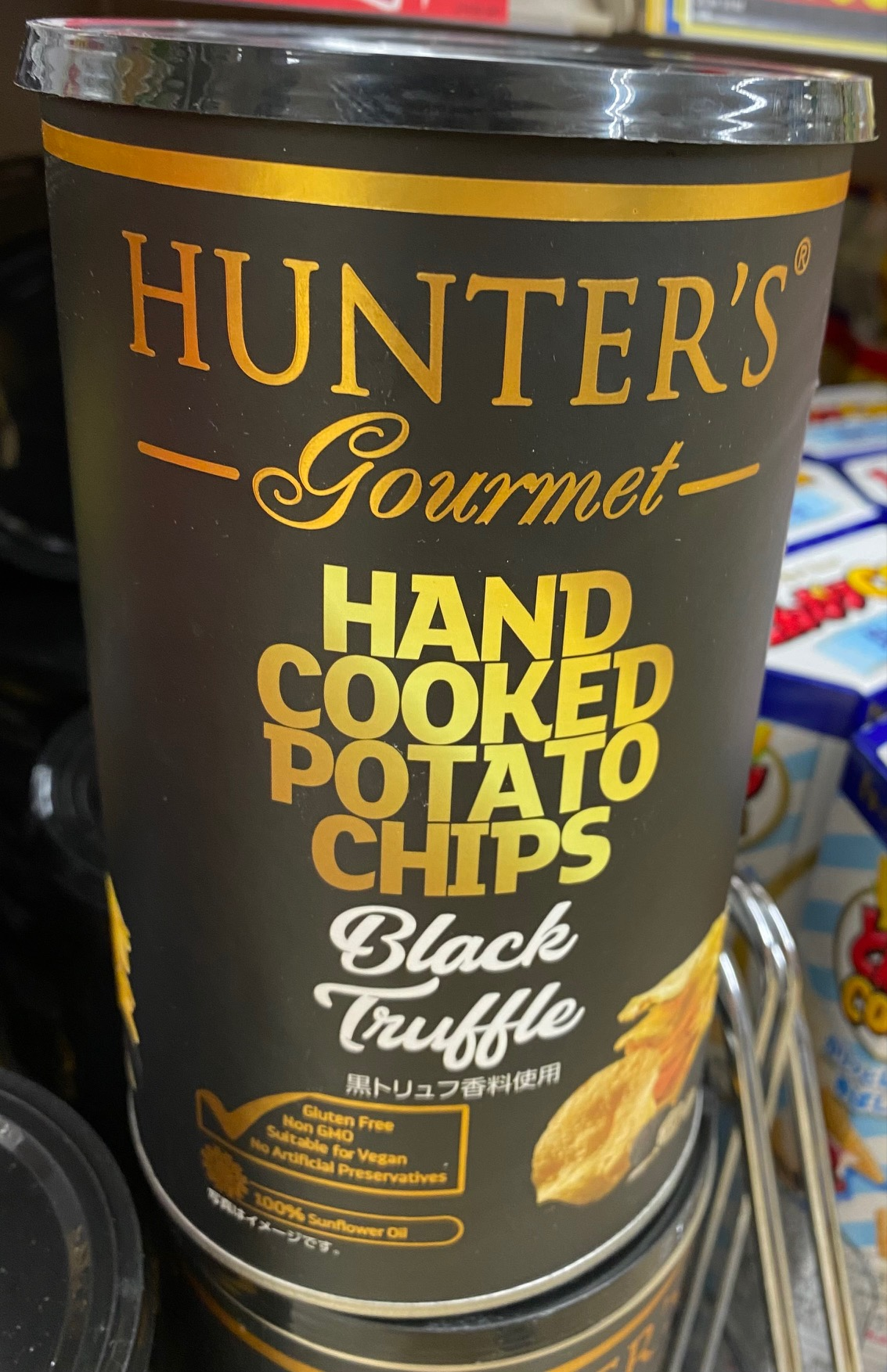 Hunter's Gourmet Black Truffle Hand Cooked Potato Chips, large package