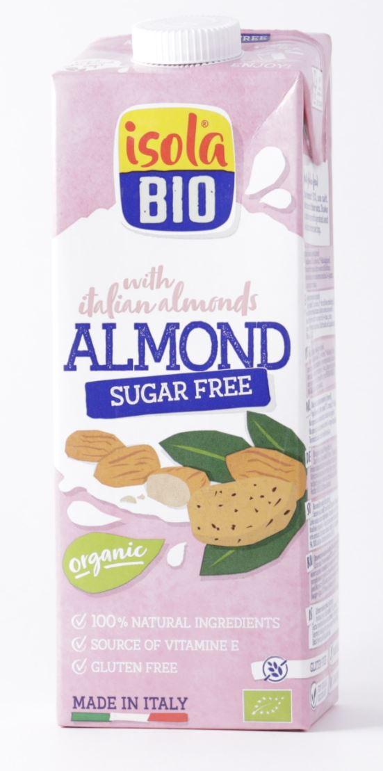 Isola Bio Almond Milk Sugar Free