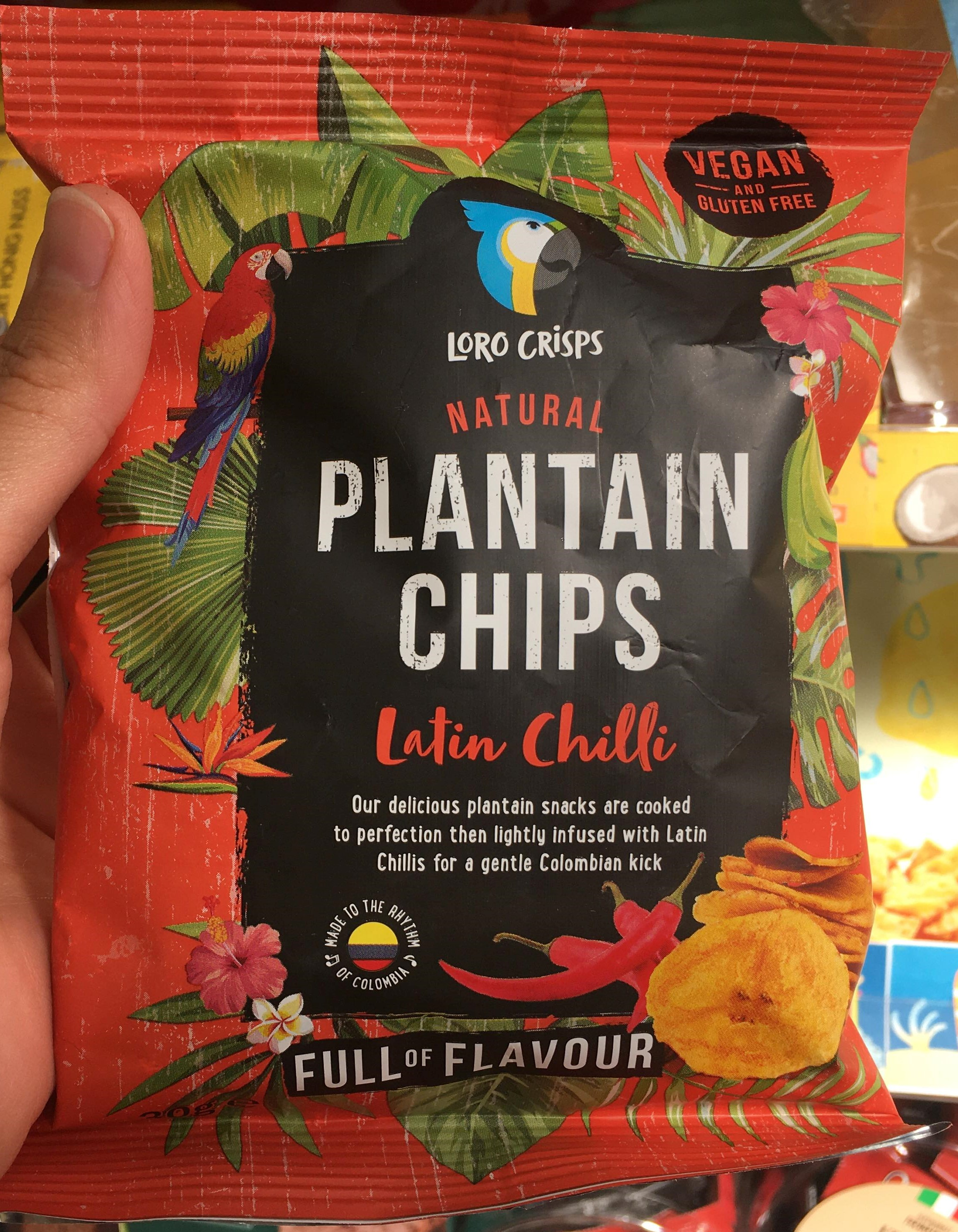 Loro Crisps Natural Plantain Chips Latin Chilli