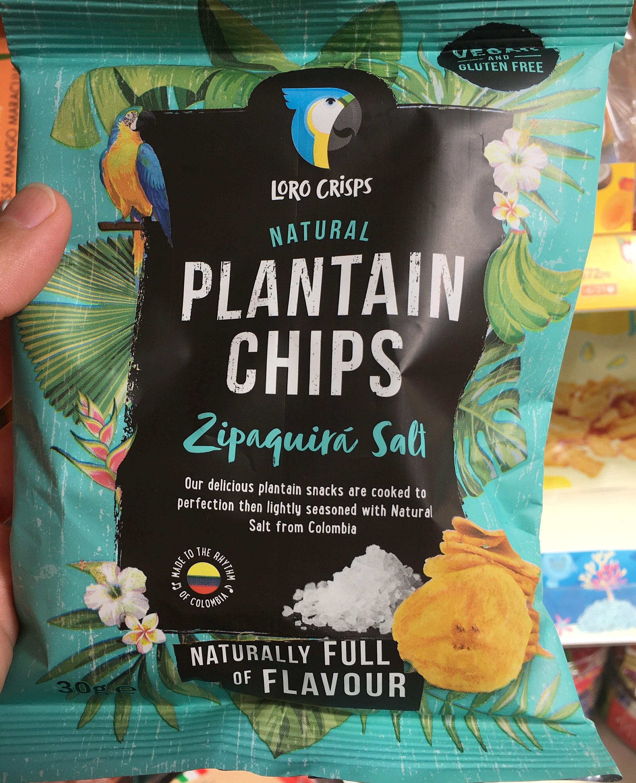 Loro Crisps Natural Plantain Chips Zipaquira Salt