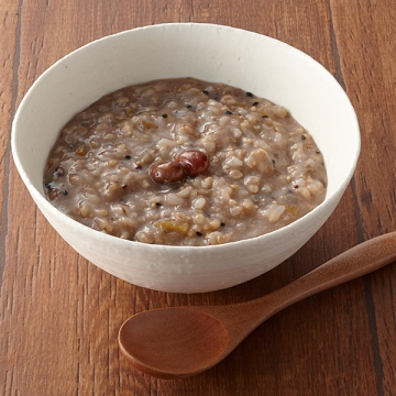 Sea and Earth Deli Multigrain Genmai Porridge stock photo